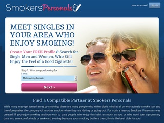 Smokers Personals Homepage Image